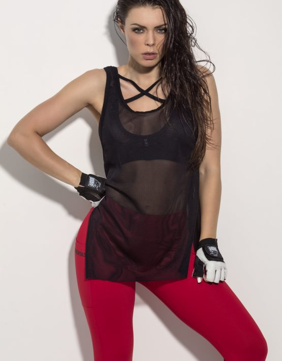 sporty sheek mesh performance black top